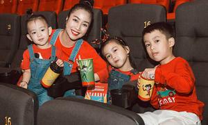Ốc Thanh Vân khoe 3 con 'hot boy, hot girl' nhí