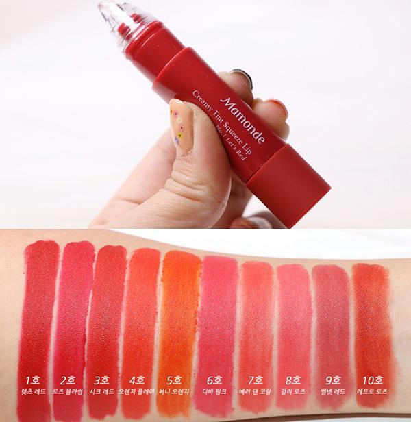 Với thiết kế gần như tương tự dòng son bút chì Mamonde Creamy Tint Color Balm Intense, son kem lần này của Mamonde được cải tiến ở phần đầu son. Mamonde Creamy Tint Squeeze Lip được sử dụng bằng cách bóp thân son và tô lên môi.