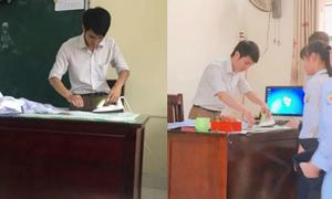 Thầy giáo Hải Phòng là áo cho học sinh đi khai giảng