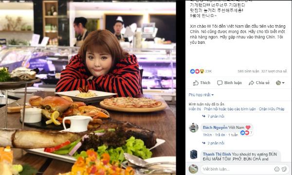 Thánh ăn xứ Hàn Yang Soo Bin đến Việt Nam tháng 9 - 1