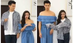 Các đôi trẻ châu Á nhắng nhít với trào lưu vừa nhảy vừa đổi quần áo với gấu