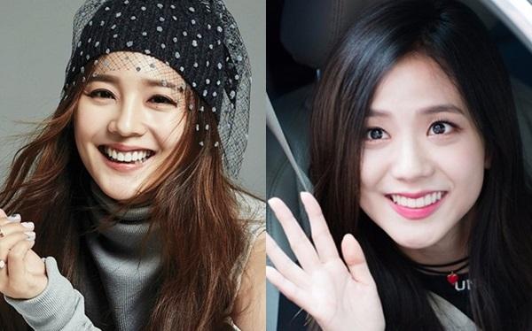 Đôi môi trái tim của Ji Soo (Black Pink) khiến người hâm mộnhớ tới hình ảnh cựu thành viên nhóm S.E.S Eugene (trái).