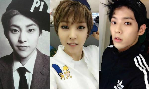 Bộ ba Xiu Min (EXO), Moon Byul (Mamamoo) và Min Hyuk (BTOB) gây sốc cho khán giả khi có những bức ảnh dễ gây rối mắt như thế này.
