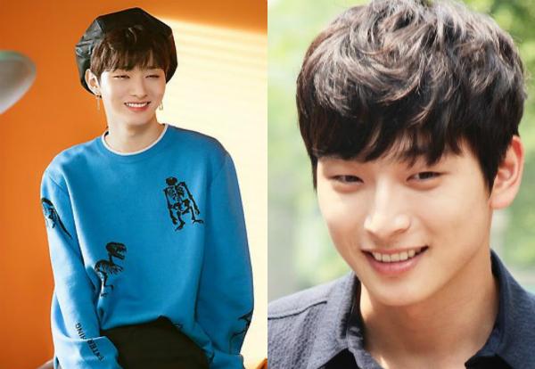 Jin Woon của 2AM (phải) từng phải công nhận rằng đàn emJi Sung (Wanna One) rất giống anh chàng.