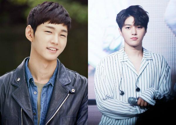 Có những khoảnh khắc, L của Infinite (phải) trông rất giống nam diễn viên Lee Won Geun.