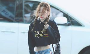 Tae Yeon biến hóa, Irene diện đồ chuẩn girlcrush khi ra sân bay