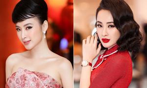 Trang điểm tinh tế như Angela Phương Trinh: Váy màu gì son màu nấy