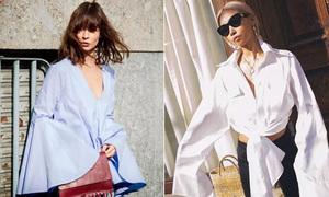 Quần áo, phụ kiện to 'như đi mượn' là mốt hot nhất 2018