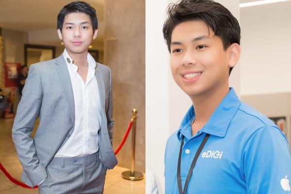 vẻ điển trai của cậu út nhà chồng Tăng Thanh Hà.,