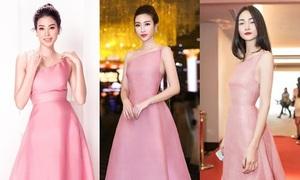 Diện chung mẫu đầm, sao Việt ai mặc đẹp hơn?