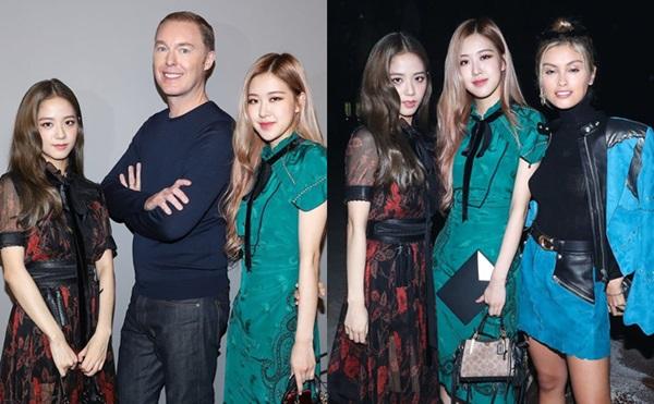 Ji Soo - Rosé chụp hình cùng Stuart Vevers, giám đốc sáng tạo của Coach và nữ diễn viênSarah Ellen.