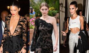 Kendall, Gigi, Bella đồng loạt thả rông vòng một khiến fan 'nóng mặt'