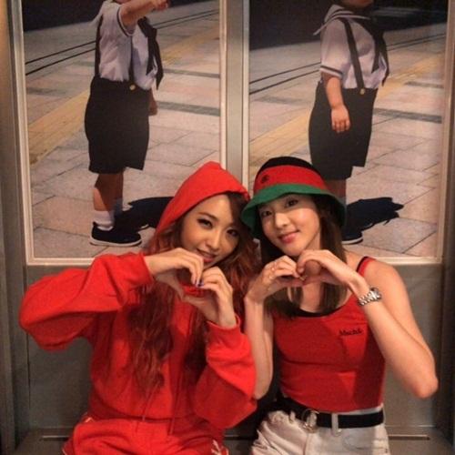Em út giả Dara hội ngộ em út thật Minzy sau một thời gian dài kể từ khi 2NE1 tan rã.