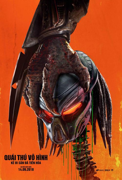 Poster chính thức của bộ phim The Predator (Quái Thú Vô Hình)