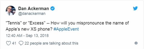 Tennis hay Excess - Bạn sẽ phát âm tên của chiếc điện thoại iPhone XS đời mới nhất này như thế nào?