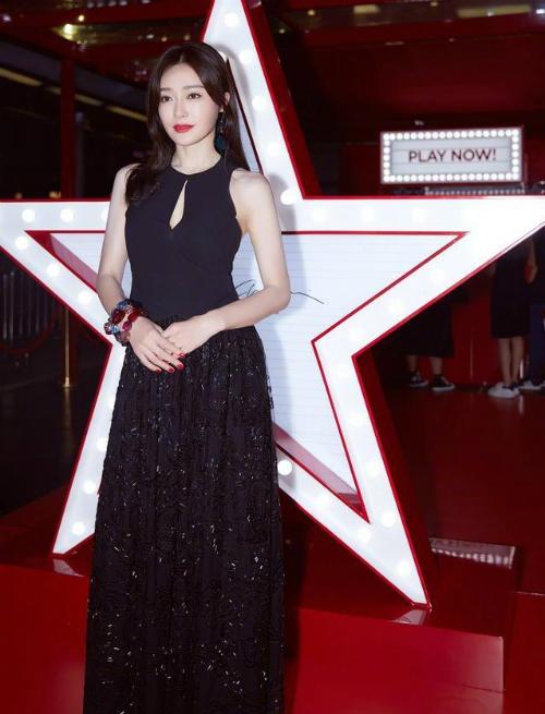 Tần Lam xinh đẹp trong sự kiện.