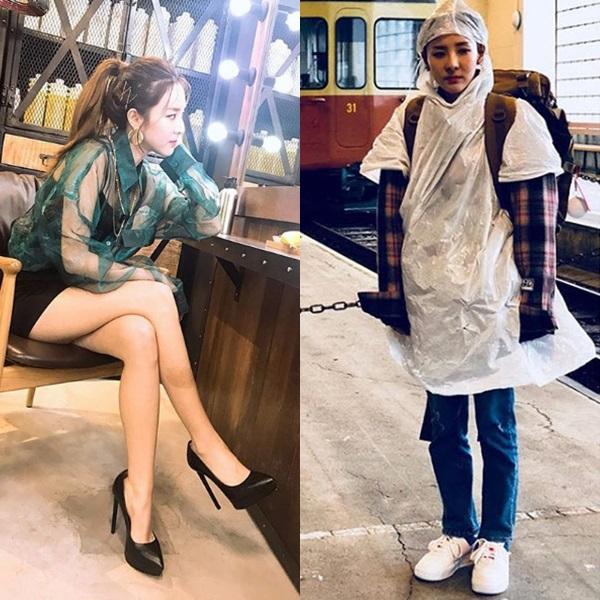 Fan cho rằng Dara nên theo đuổi hình tượng nữ tính thay vì mặc những bộ trang phục chẳng giống ai như thế này.