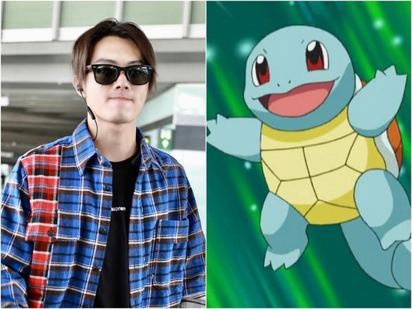 Fan so sánh diện mạo hiện tại của Hứa Khải với chú rùa Squirtle trong Pokemon.