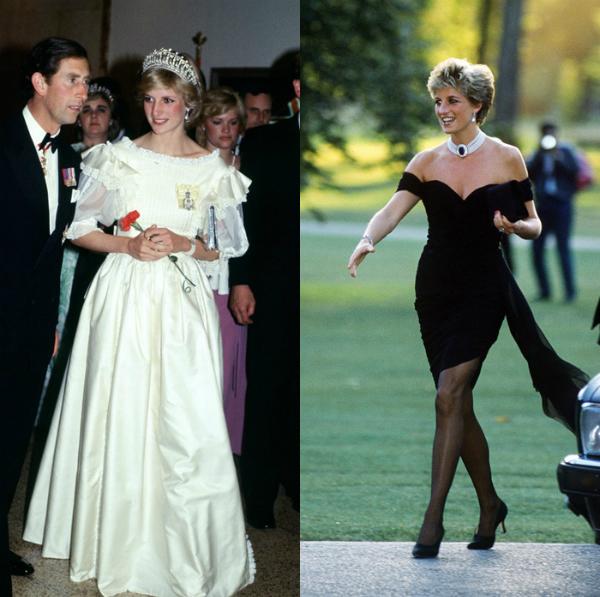Hình ảnh trái ngược của Công nương Diana trước và sau khi ly thân Charles.