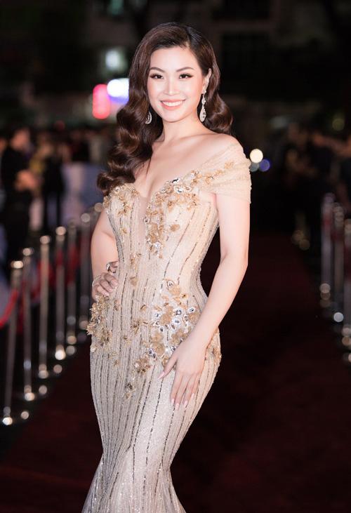 Á hậu Diễm Trang đảm nhiệm vai trò MC cho đêm chung kết.