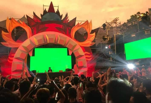 Hình ảnh tại lễ hội âm nhạc hôm 16/9.