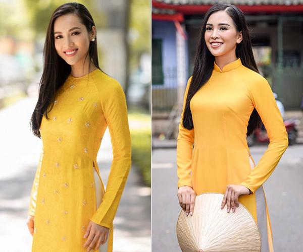 Để chung kiểu tóc, diện cùng kiểu trang phục, hai mỹ nhân gây ngạc nhiên vì sự trùng hợp thú vị.