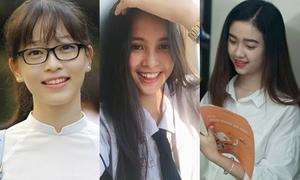 Đọ vẻ 'thiên thần áo trắng' của top 3 Hoa hậu Việt Nam 2018