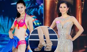 Trần Tiểu Vy đi đúng một đôi giày xuyên suốt Hoa hậu Việt Nam 2018