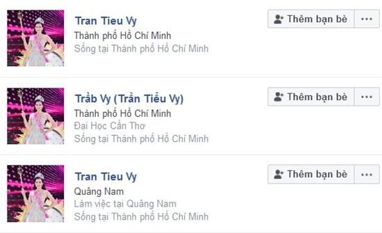 Nhiều tài khoản giả mạo mang tên hoa hậu Trần Tiểu Vy được lập nên.