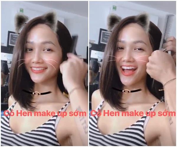 HHen Niê còn thường xuyên dùng nhiều kiểu tóc giả khác để F5 vẻ ngoài liên tục. Có lần cô được khen nức nở với kiểu tóc lob uốn cụp vào mặt, giúp nhan sắc thêm trẻ trung, xinh tươi.
