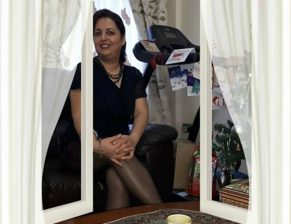 Bà Mitras Eidiani, người bị cáo buộc đánh con gái sau khi phát hiện con có bạn trai.