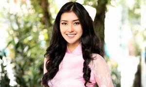 Hoa hậu Quốc tế Kevin Lilliana diện áo dài Việt 'gây thương nhớ'
