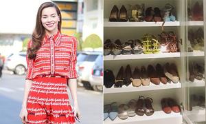 Tủ giày hàng trăm đôi gây choáng ngợp của Hà Hồ
