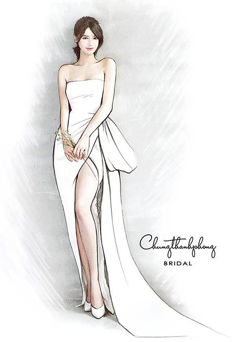 Nhã Phương sẽ mặc váy quây xẻ đùi sexy trong ngày cưới