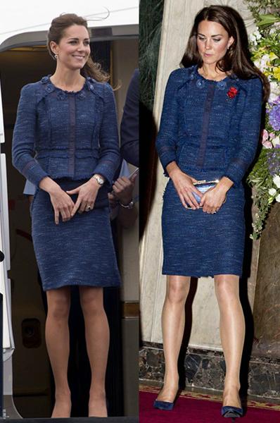 Chiếc váy xanh của Rebecca Taylor được Nữ công tước xứ Cambride diện 3 lần vào các năm 2012, 2014 và 2017.