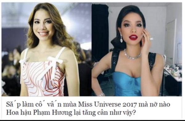 Phạm Hương bị soi chuyện tăng cân qua một số bức ảnh.