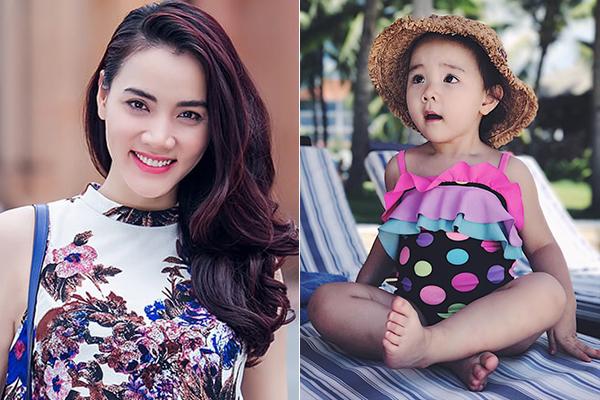 Người mẫu Trang Nhung sinh con gái đầu lòng vào tháng 4/2015, đến nay cô nhóc đã được hơn 3 tuổi. Bé ở nhà có tên gọi là Vani, thừa hưởng nhiều đường nét xinh xắn từ mẹ. Nhiều người dự đoán với hàng mày lá liễu, khuôn miệng nhỏ xinh, cô nhóc nhất định là mỹ nhân tương lai.