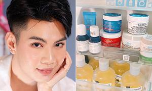 Điều bất ngờ trong tủ lạnh của Đào Bá Lộc: Cả 'kho tàng' trăm món skincare