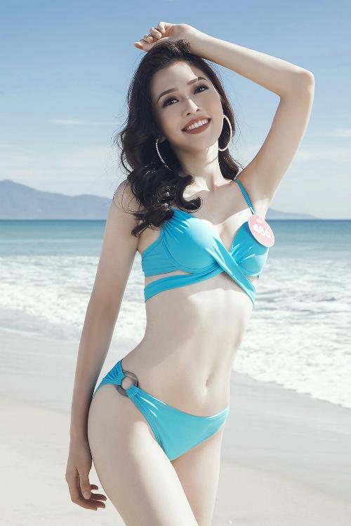 Hình ảnh Bùi Phương Nga trên fanpage chính thức của cuộc thi Hoa hậu Hòa Bình Quốc tế.