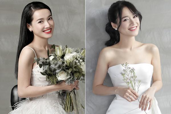 Trong bộ ảnh cưới, Nhã Phương khi tô son đỏ đậm cũng có phần kém sắc so với lúc trang điểm tông hồng trong veo kiểu Hàn Quốc. Ở hôn lễ sắp diễn ra của cô nàng, nhiều người cũng kỳ vọng nữ diễn viên sẽ chọn lối makeup nhẹ nhàng, tinh khôi.