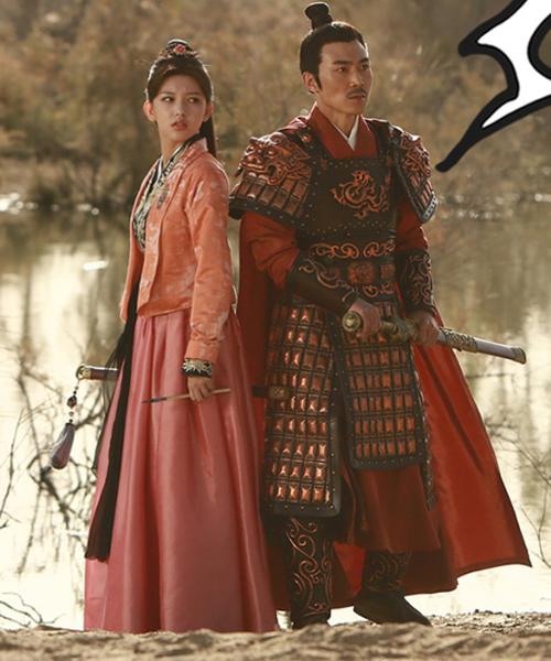 Cheng Xiao và bạn diễn trong một cảnh phim.