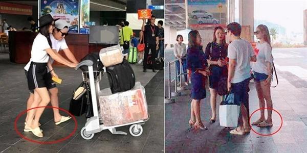 Ngay cả khi xuất hiện ở chốn đông người như sân bay, Trường Giang vẫn thể hiện sự giản dị.