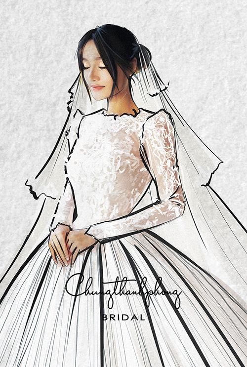 Hé lộ chiếc váy cưới đặc biệt nhất của Nhã Phương trong hôn lễ tối nay - 1