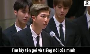 Bài phát biểu gây xúc động mạnh của BTS tại Liên Hợp Quốc