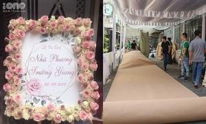 Gia đình Nhã Phương trải thảm, trang trí hoa tươi chờ Trường Giang đến rước dâu