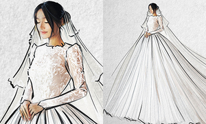 Hé lộ chiếc váy cưới đặc biệt nhất của Nhã Phương trong hôn lễ tối nay