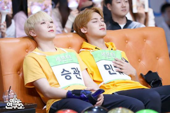 Hai thành viên của Seventeen