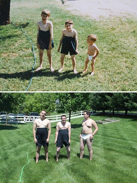 18 năm sau, và mẹ của bọn tôi đã cười vỡ bụng khi chứng kiến cảnh tượng này.