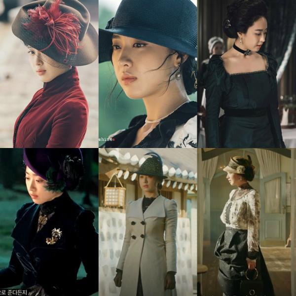 Nhân vật Kudo Hina (Kim Min Jung), bà chủ khách sạn Glory của Mr. Sunshine. Thời trang của nhân vật này luôn được chăm chút trong từng khung hình lộng lẫy, góp phần tạo nên cơn sốt style thời xưa đang thịnh hành trong giới trẻ Hàn Quốc.