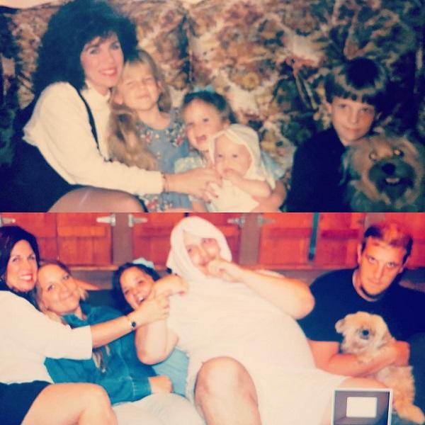 Một tấm ảnh chụp cùng với bạn thân của mẹ tôi - cô Carolyn, 24 năm sau.